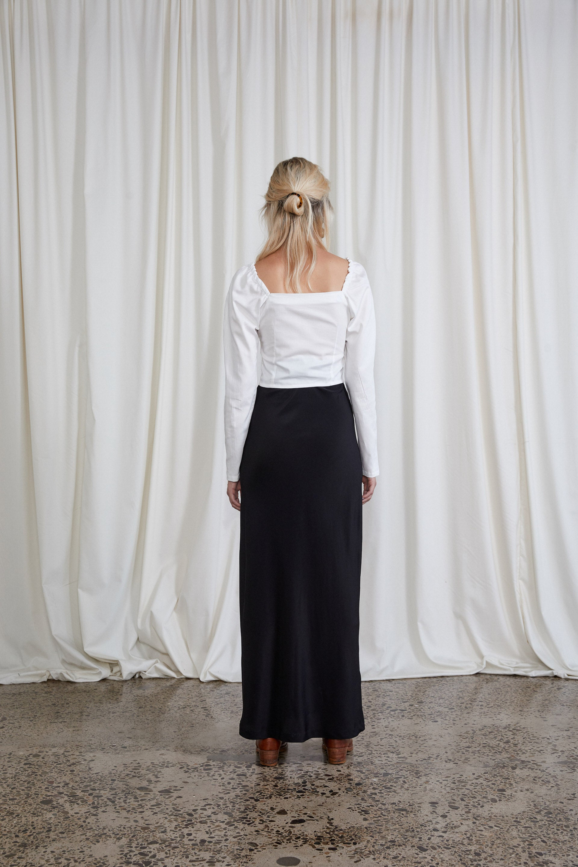 Plath Skirt - Onyx Silk Crepe