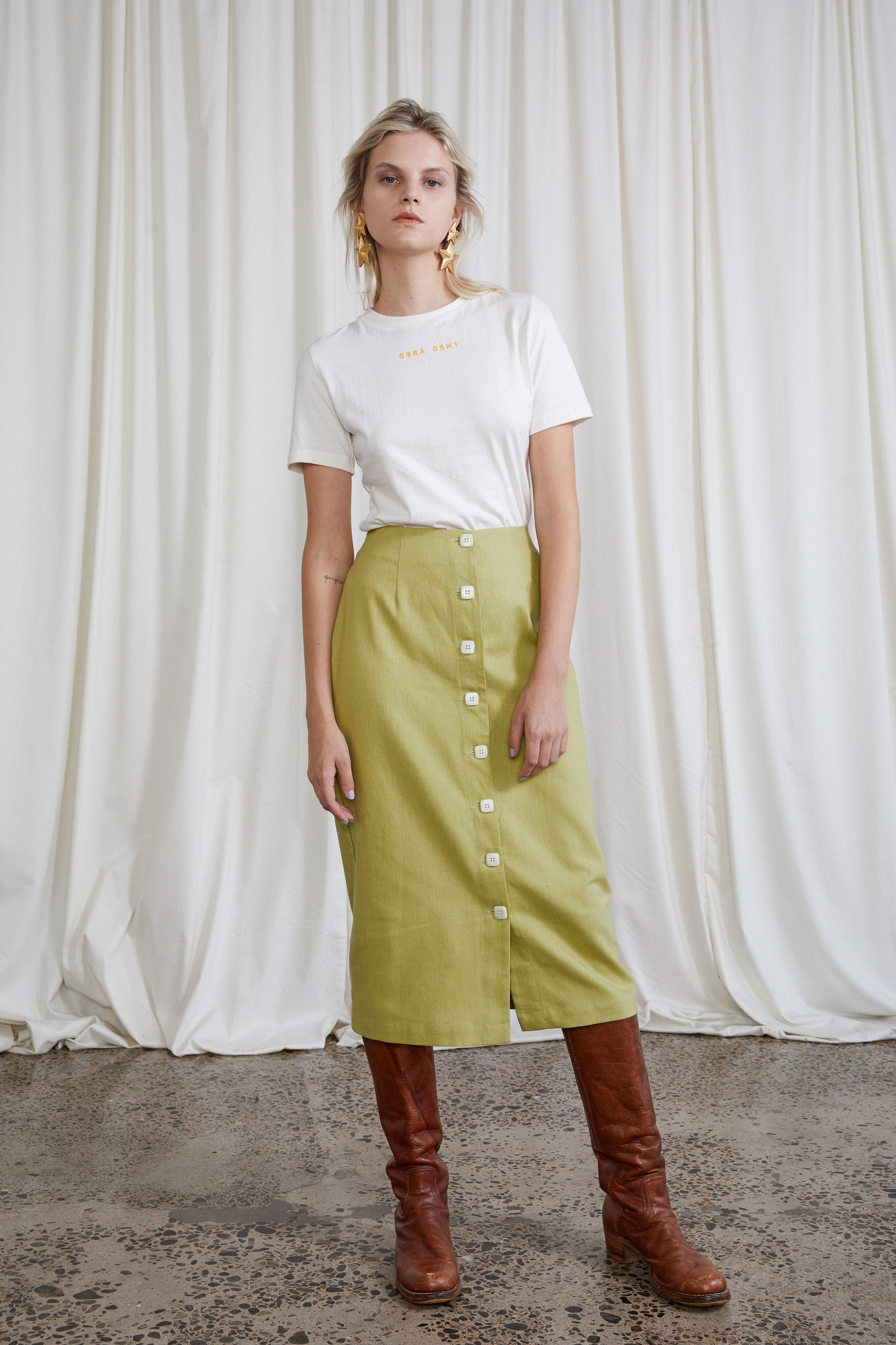 Saskia Skirt - Avocado Hemp Organic Cotton
