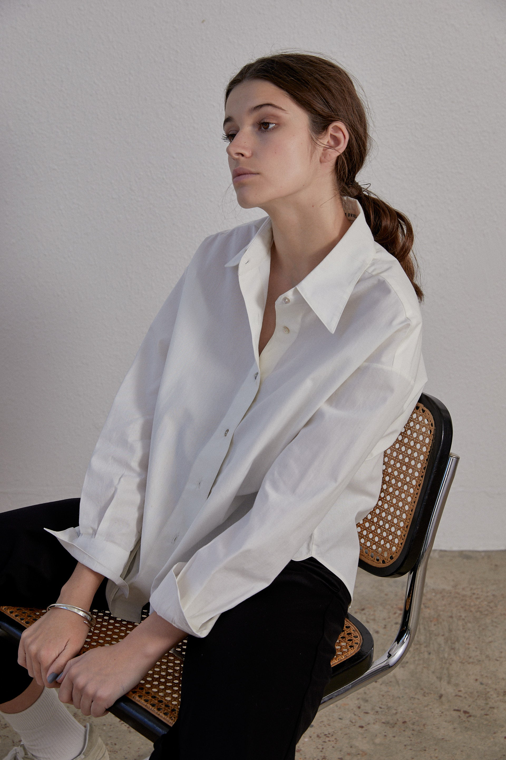 Sherman Shirt - Milk Organic Cotton