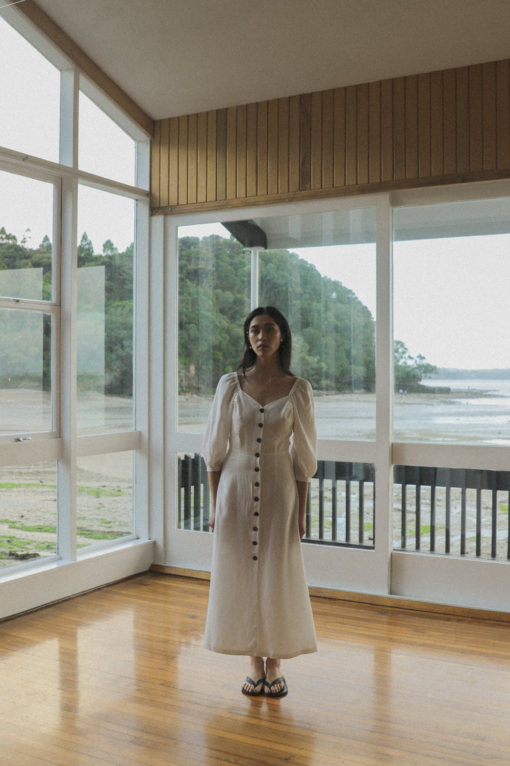 Virginia Dress - Ice White Tencel Linen PRE-ORDER