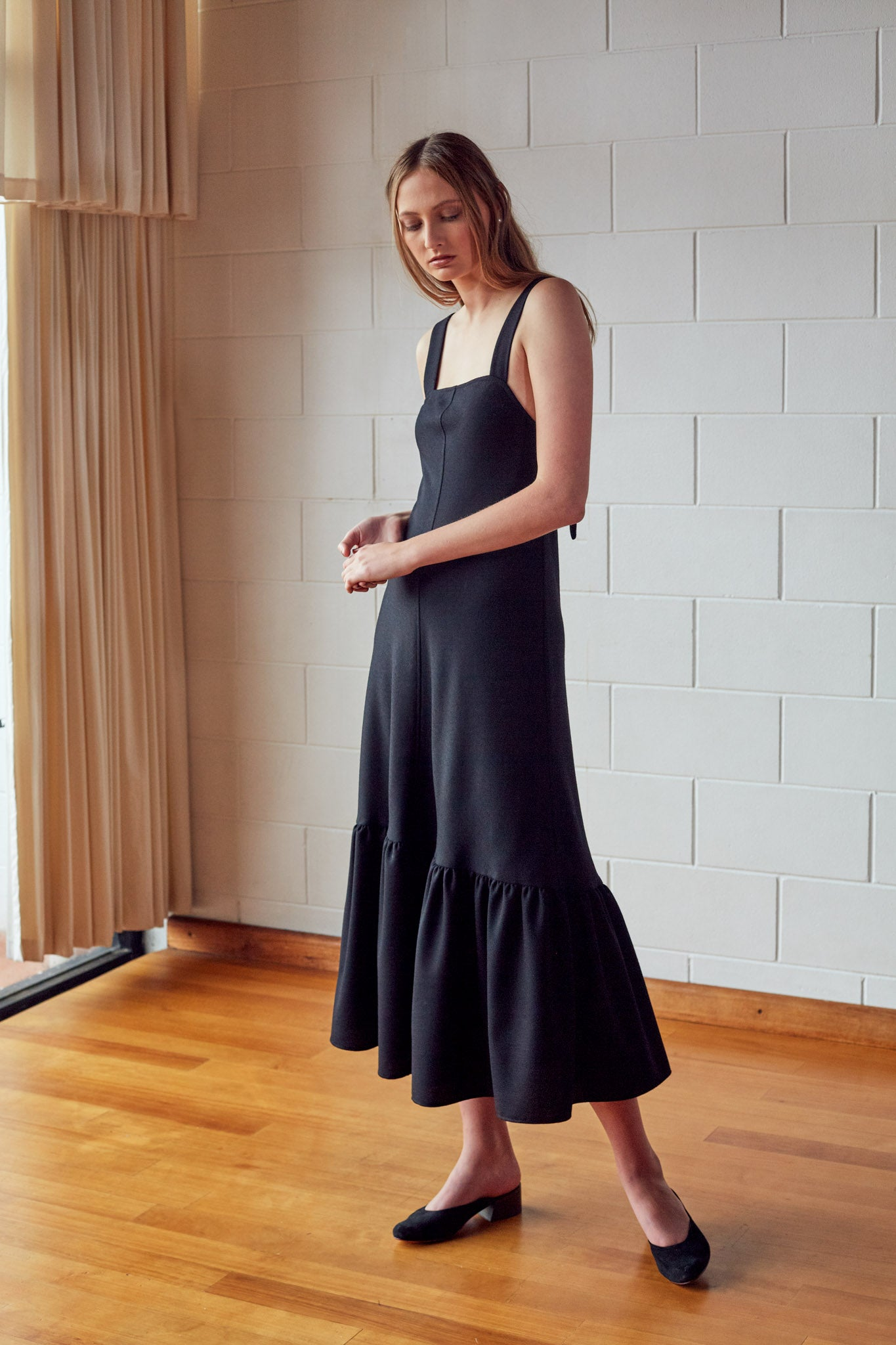 Bells Dress - Onyx Wool