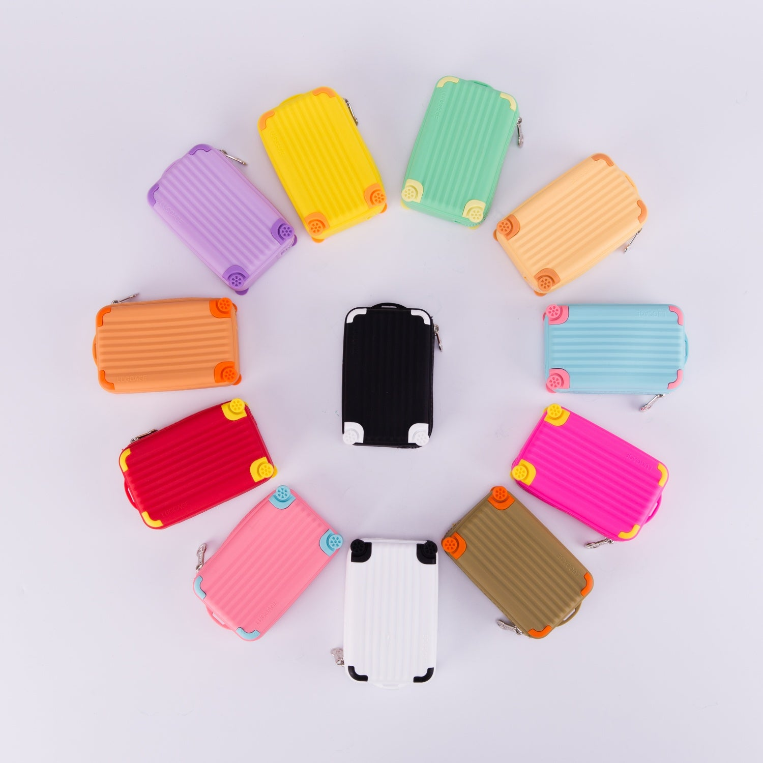 LUGGAGE SOFT SILICONE COIN PURSE