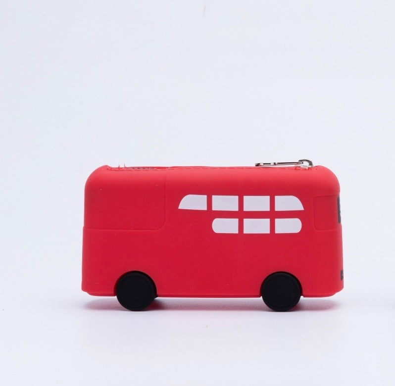 DOUBLE-DECKER BUS SOFT SILICONE COIN PURSE - Hanging Owl