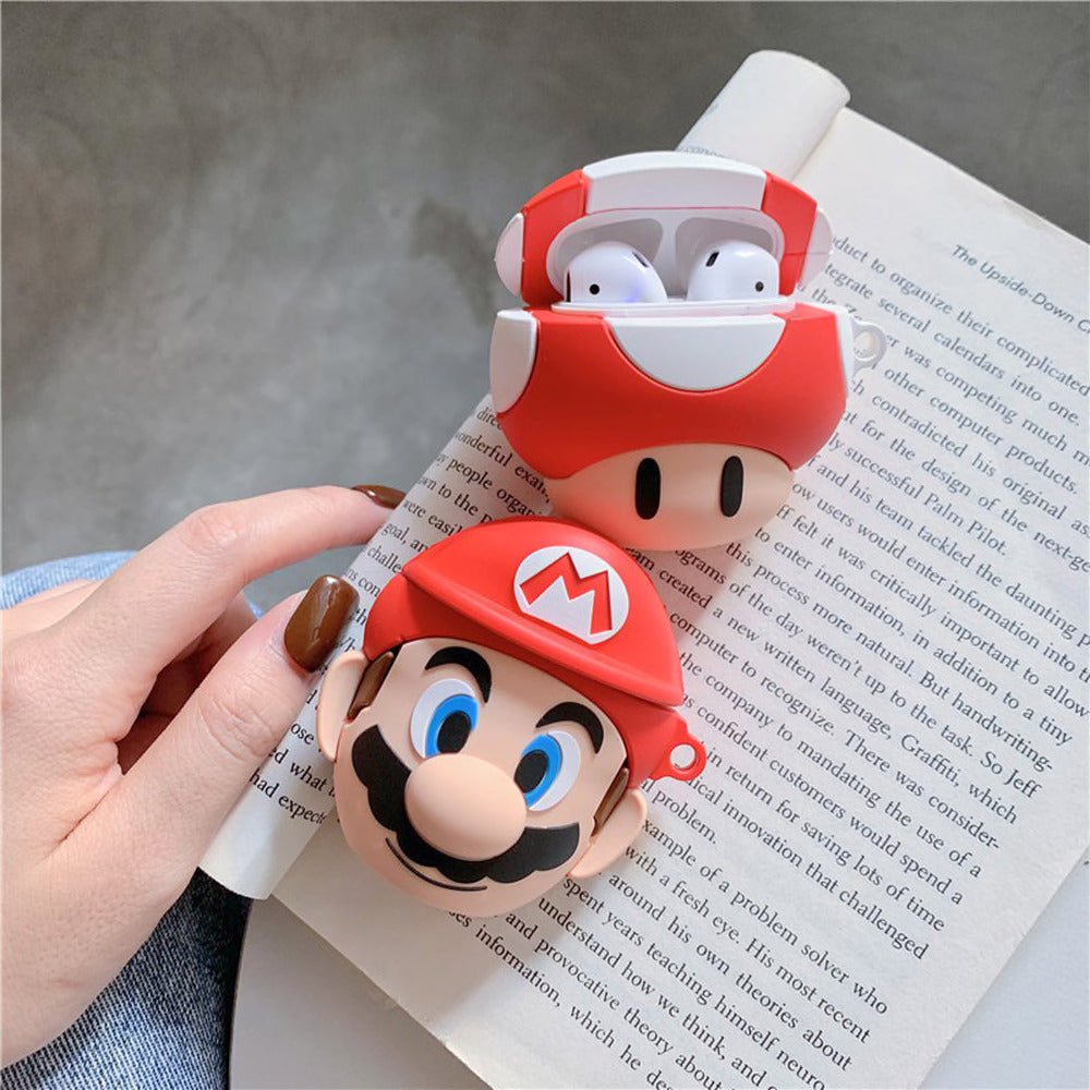 3D SUPER MARIO SILICONE AIRPODS CASE COVER FOR 1 & 2 - Hanging Owl