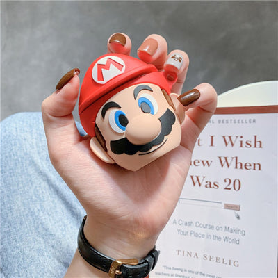 3D SUPER MARIO SILICONE AIRPODS CASE COVER FOR 1 & 2