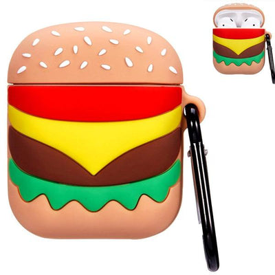 BURGER SILICONE AIRPODS CASE