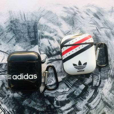ADIDAS GLOSSY SILICONE AIRPODS CASE COVER FOR 1&2