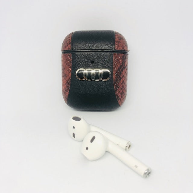 AUDI 2 Tone Leather Airpods Cover - Hanging Owl