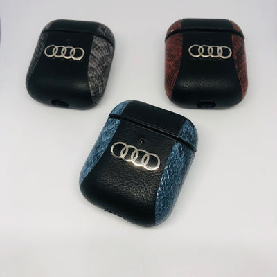AUDI 2 Tone Leather Airpods Cover