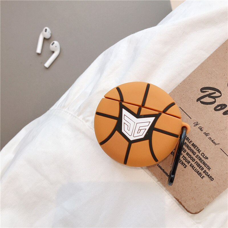 BASKETBALL  SILICONE AIRPODS CASE 1/2 - Hanging Owl