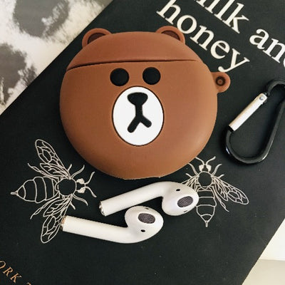 BEAR SILICONE AIRPODS CASE FOR 1&2