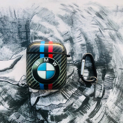 BMW GLOSSY SILICONE AIRPODS CASE COVER FOR 1-2