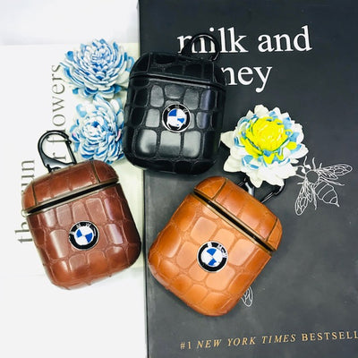 BMW CROCO CLOUDS LEATHER AIRPODS CASES FOR 1&2