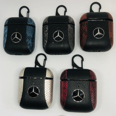Benz 2 Tone Leather Airpods Cover