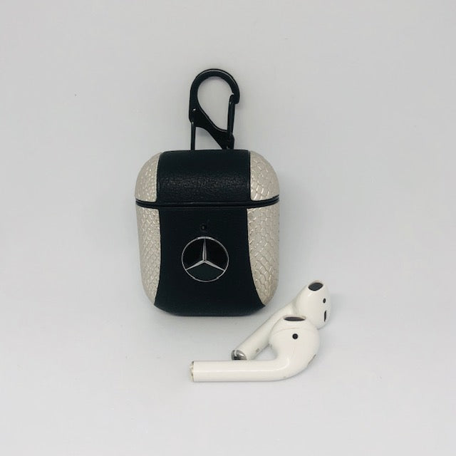 Benz 2 Tone Leather Airpods Cover - Hanging Owl