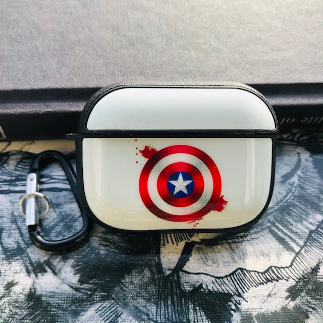 CAPTAIN AMERICA  GLOSSY SILICONE COVER FOR AIRPODS PRO - Hanging Owl