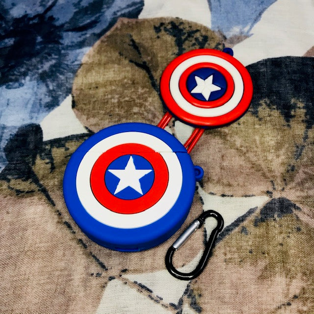 CAPTAIN AMERICA SILICONE AIRPODS CASE 1/2 - Hanging Owl