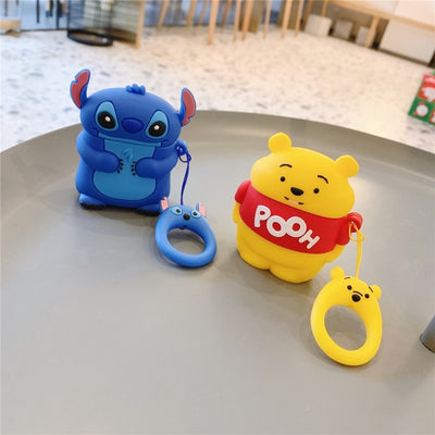 CARTOON SILICONE AIRPODS CASE COVER FOR 1-2