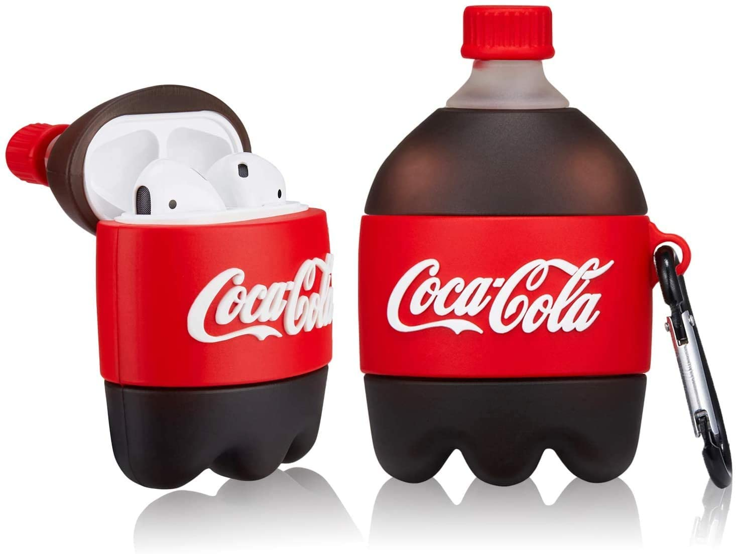 COCA-COLA BOTTEL SILICONE AIRPODS CASE COVER FOR 1-2