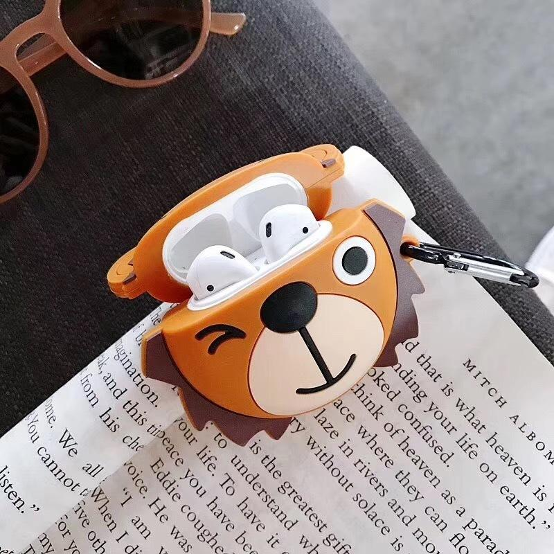 CUTE LION & PANDA SILICONE AIRPODS COVER 1/2 - Hanging Owl