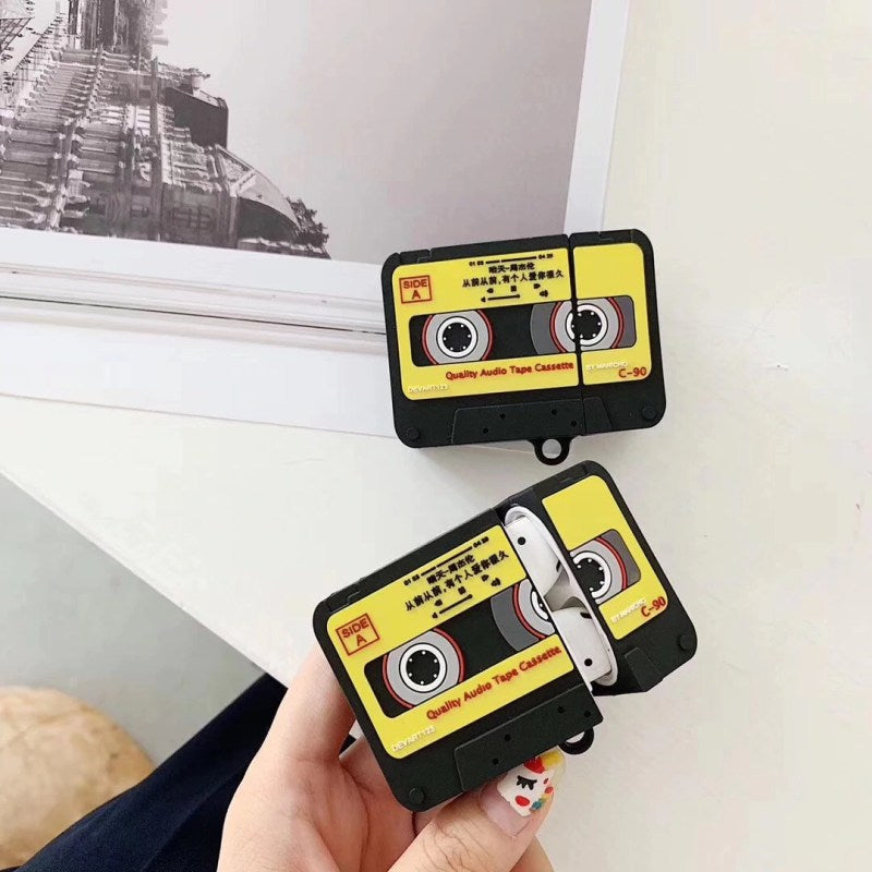 CASSETTE SILICONE AIRPODS CASE COVER FOR 1-2