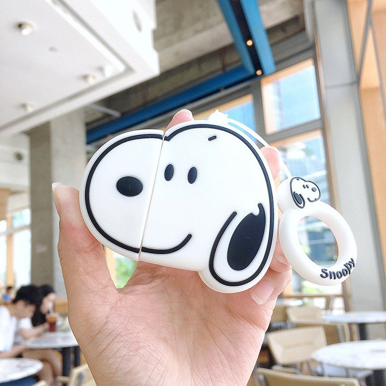 Charlie & Snoopy Silicone AirPods Case Cover For 1-2