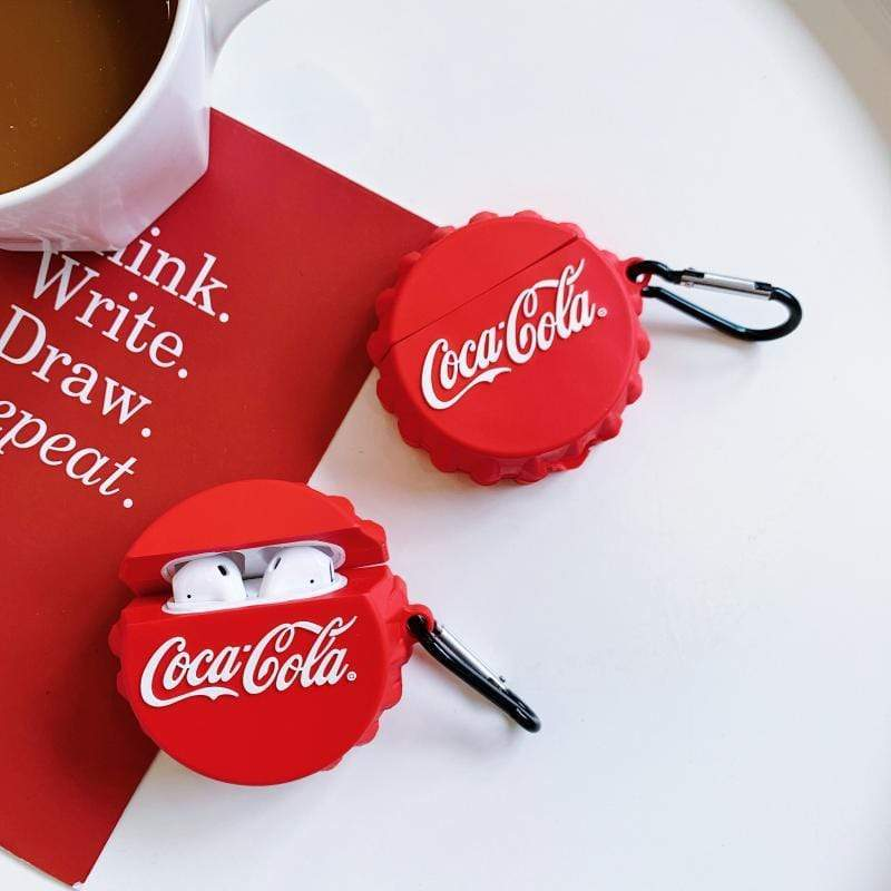Coca-Cola Cap Silicone Airpods Case Cover for 1-2 - Hanging Owl