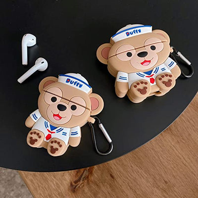 DUFFY BEAR SILICONE AIRPODS CASE COVER FOR 1-2 & PRO