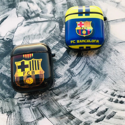 FCB GLOSSY SILICONE AIRPODS CASE COVER FOR 1-2