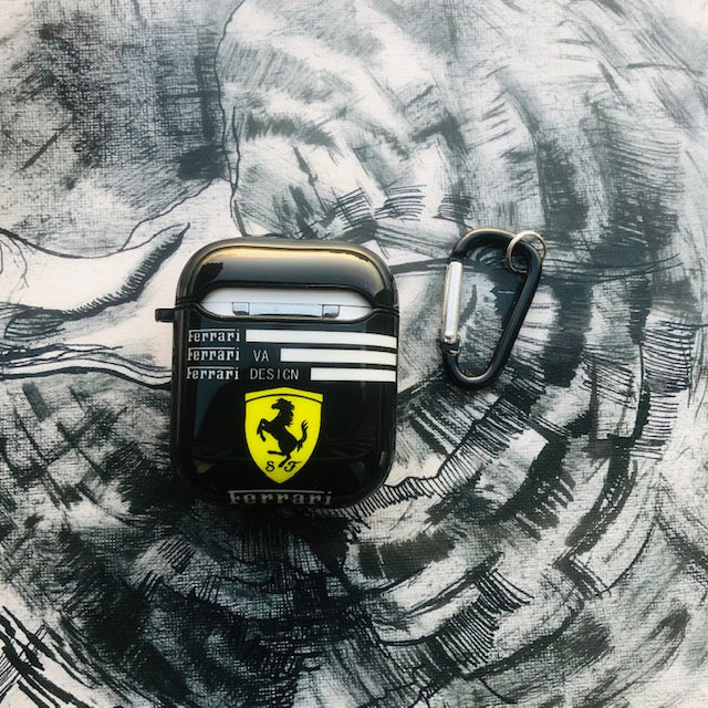 FERRARI GLOSSY SILICONE AIRPODS CASE COVER FOR 1-2 - Hanging Owl