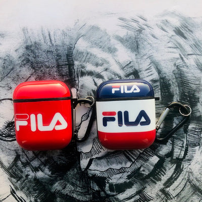FILA GLOSSY SILICONE AIRPODS CASE COVER FOR 1&2
