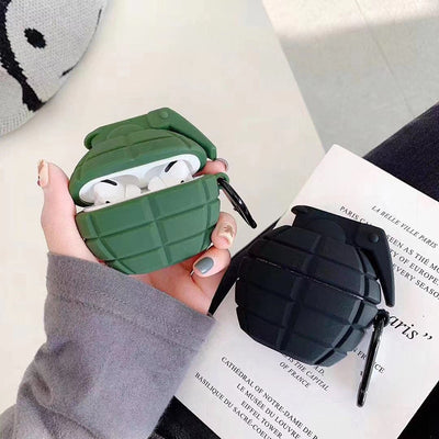 GRENADE GREEN SILICONE AIRPODS CASE COVER FOR PRO