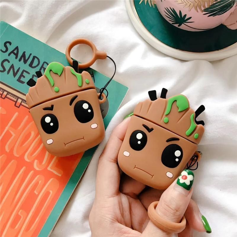GROOT SILICONE AIRPODS CASE COVER FOR 1 & 2