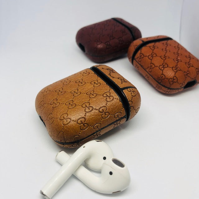Monoram G Design leather AirPods Case - Hanging Owl