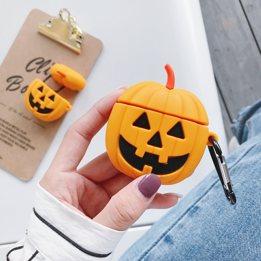 HALLOWEEN PUMPKIN SILICONE  AIRPODS CASE - Hanging Owl