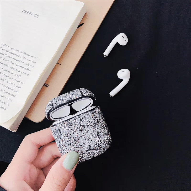 DESIGNER GLITTERY STONE AIRPODS CASES - Hanging Owl