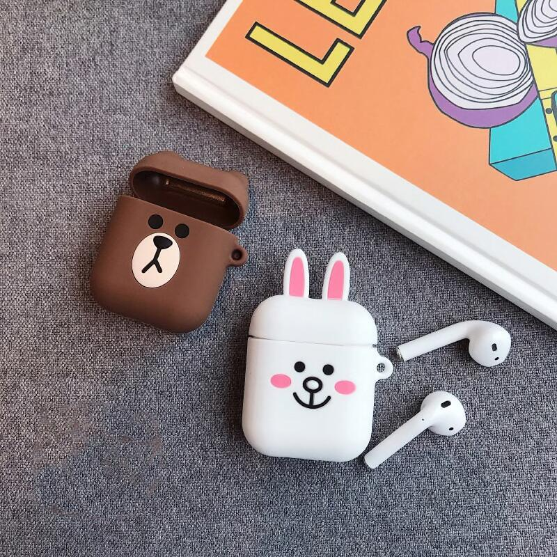 BEAR & BUNNY SILICONE AIRPODS CASES - Hanging Owl