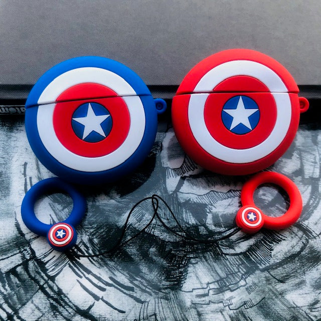CAPTAIN AMERICA SHIELD  SILICONE AIRPODS PRO CASE COVER