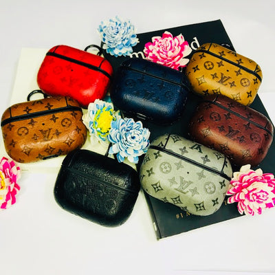 Monogram Lv Design leather AirPods Pro Case