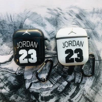 JORDAN GLOSSY SILICONE AIRPODS CASE COVER FOR 1&2