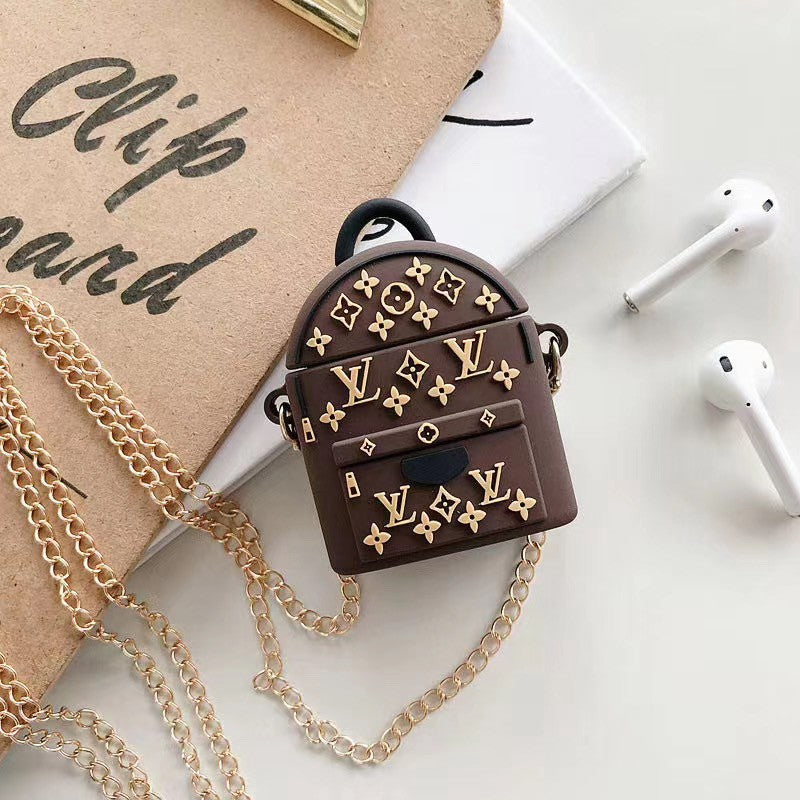 LV BACKPACK SILICONE AIRPODS CASE COVER FOR 1-2