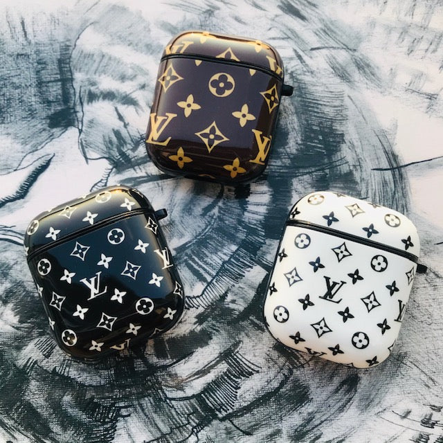 LV MONOGRAM GLOSSY SILICONE AIRPODS CASE COVER FOR 1-2