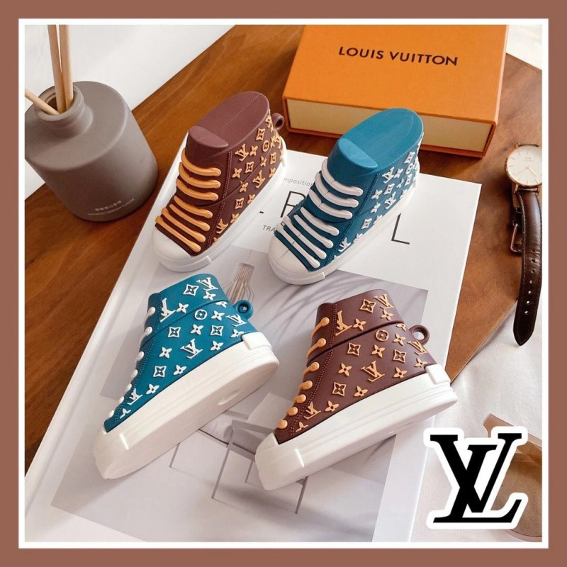 LV BROWN SHOES SILICONE AIRPODS CASE COVER FOR 1-2 & PRO