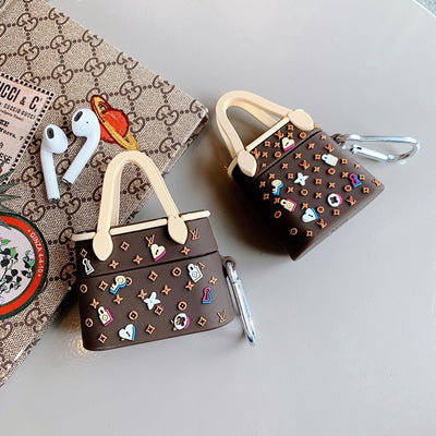LV TOTE BAG SILICONE AIRPODS CASE COVER FOR 1-2 & PRO