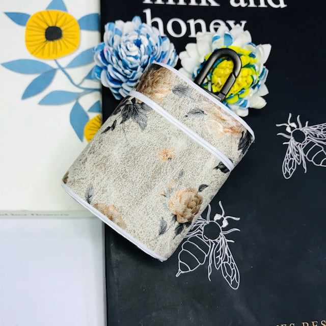 MATTE FLOWER PRINT LEATHER AIRPODS CASES - Hanging Owl