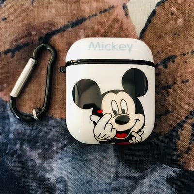 MICKEY GLOSSY SILICONE AIRPODS CASE COVER FOR 1&2