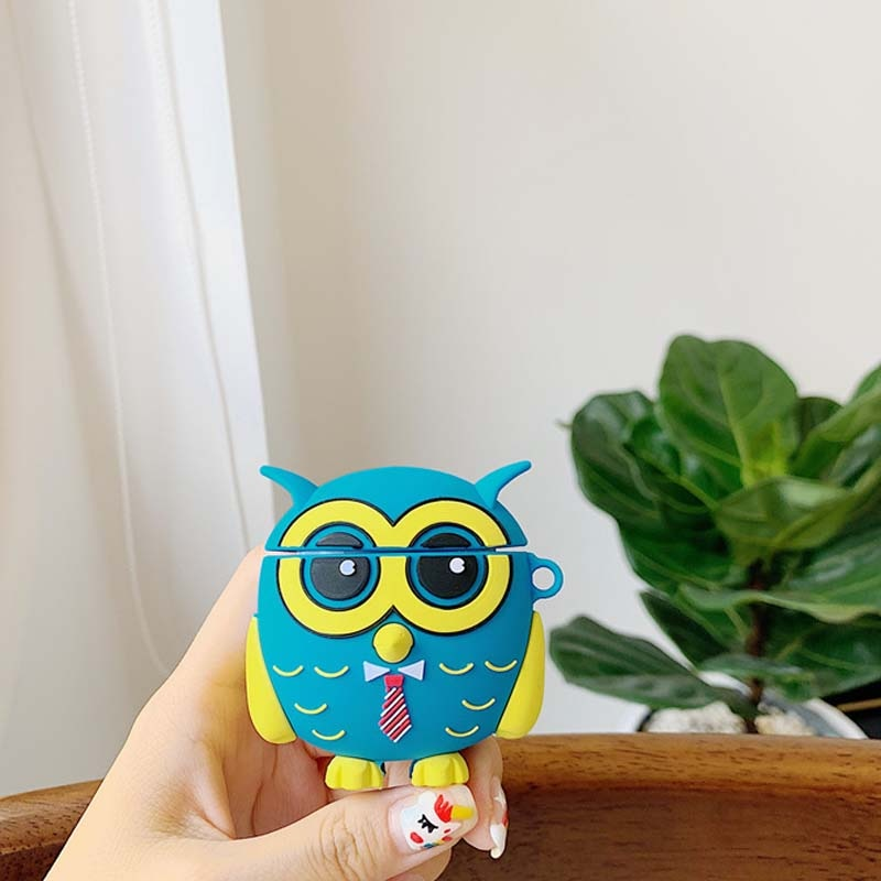 OWL SILICONE AIRPODS CASE COVER FOR 1 & 2 - Hanging Owl