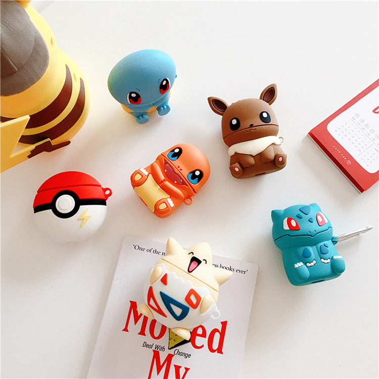 POKEMON SILICONE  AIRPODS CASE COVER FOR 1-2 & PRO