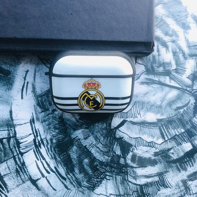 REAL MADRID GLOSSY SILICONE COVER FOR AIRPODS PRO
