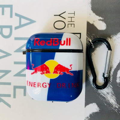 RED BULL GLOSSY SILICONE AIRPODS CASE COVER FOR 1&2